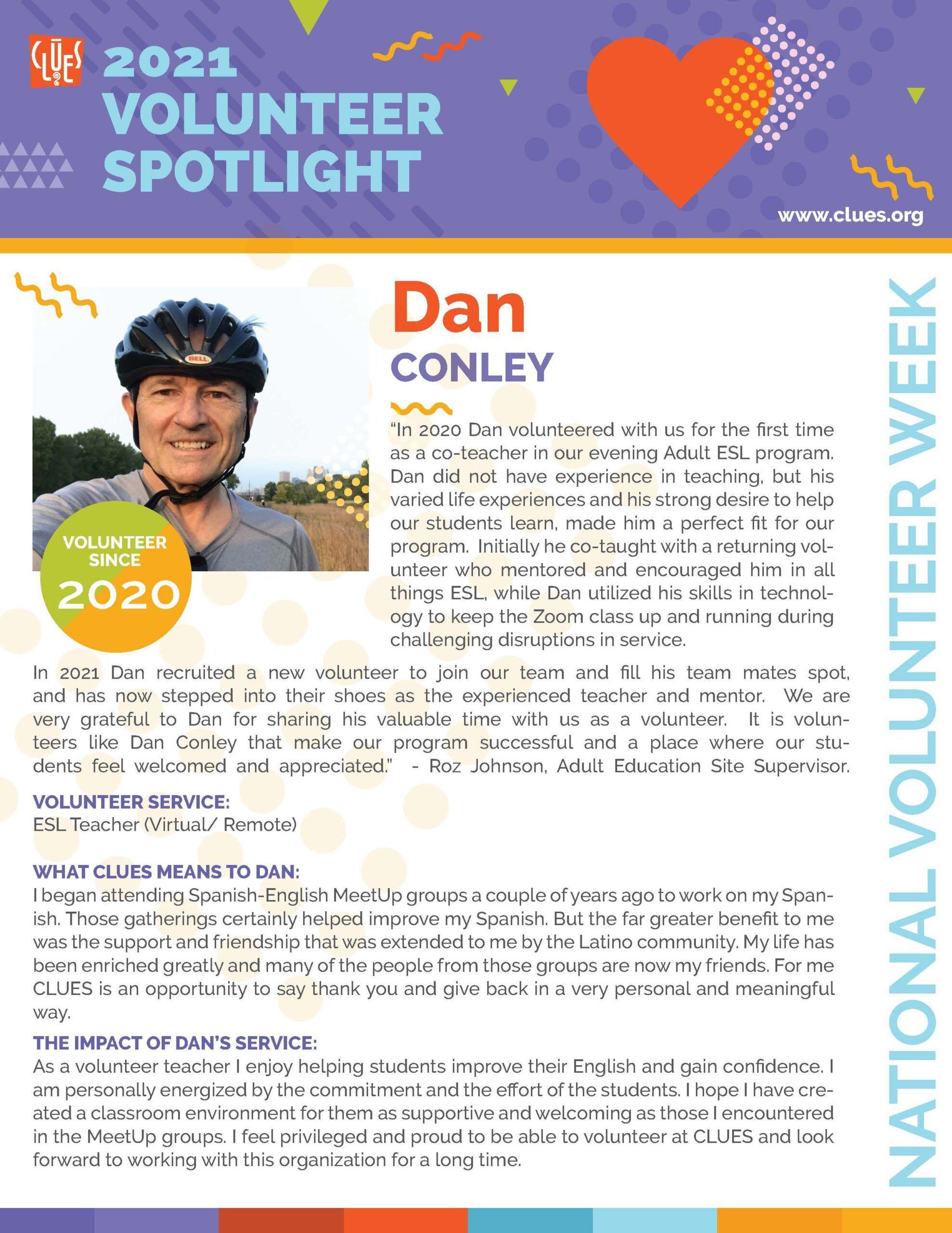 CLUES_VolunteerSpotlight_DanConley